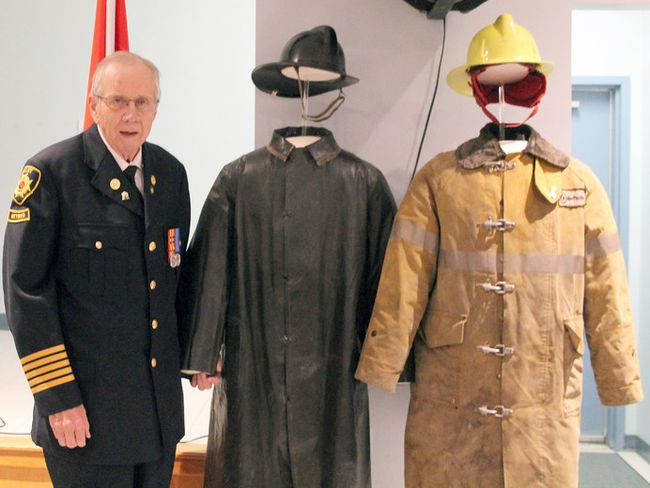 Retired Millet firefighter and lifetime resident Al Hegge will have his restored firefighter's uniforms added to the Millet and District Museum, Archives and Visitor Information Centre's displays following a dedication ceremony at the Millet Royal Canadian Legion Jan. 26.