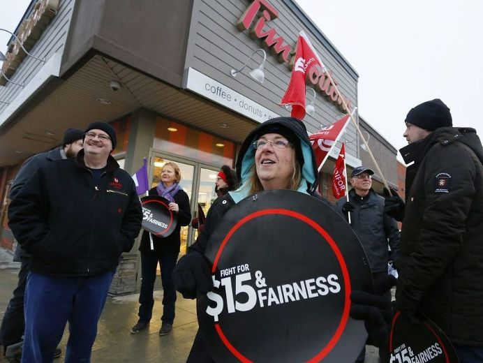 B.C. to raise minimum wage to $15.20 per hour by June 2021 following moves by Alberta and Ontario