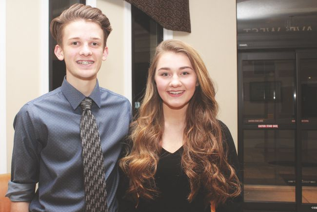 KEVIN RUSHWORTH HIGH RIVER TIMES/POSTMEDIA NETWORK. Ben Wideman and Breanne Pronchuk, both Grade 11 students at Highwood High School, are taking part in this year's upcoming Spring Ball event. The friends have enjoyed participating in both the dance and etiquette classes.