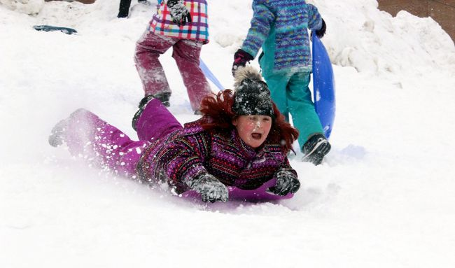 Barrelling down Mother House Sliding Hill Sunday was 10-year-old MacKenzie Hepburn as Pembroke SnoSpree closed out with a sliding party hosted by the Knights of Columbus and Carefor.