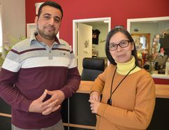 """Mokless Hassan is the new """"newcomer advocate"""" and May Ip is co-ordinator of a new online hub which will bring together information for new Canadians to help them settle here, navigate our culture and help service providers identify how they can help. (Scott Dunn/The Sun Times)"""