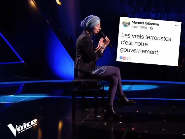 In this screenshot, Mennel Ibtissem takes part in the French version of 'The Voice'. Screenshot / The Voice : la plus belle voix