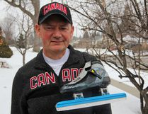 Rick Hunt, co-ordinator of the Anatomy Learning Centre and Teaching Laboratories at Queen's University, will be refereeing long-track speedskating at the 2018 Pyeongchang Winter Olympics. He is seen at his home in Kingston. (Steph Crosier/The Whig-Standard/Postmedia Network)