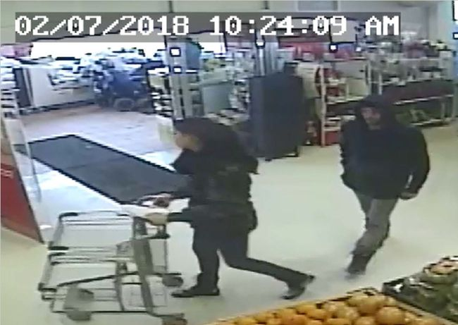 Police are asking for the public's help in identifying two suspects involved in a shoplifting investigation at McDonald's Independent Grocer in St. Marys. (Submitted photo)