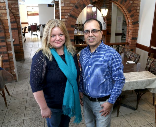 Tina Malm of Martha's Table and Jimmy Hassan of the Canadian Colours Kingston Foundation are teaming up to host a Valentine's Day meal on Wednesday February 14 2018 at the Martha's Table Princess Street dining room. Ian MacAlpine/Kingston Whig-Standard/Postmedia Network
