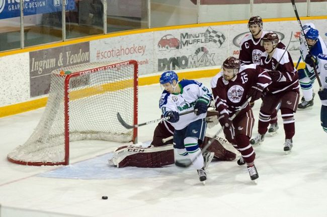 The Melfort Mustangs' Rock Rusckowski came painly close to scoring during the Mustangs' 6-3 loss to the Flin Flon Bombers on Friday, February 9 at the Northern Lights Palace.