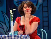 Rebecca Northan stars as Mimi in the Grand Theatre production of Blind Date. Northan picks a member of the audience to be her date each night. (MORRIS LAMONT, The London Free Press)
