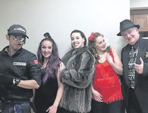A few members of the cast of A Dicey Night in Sin City after their dress rehearsal at Origin at Spring Creek. Spencer Van Dyk/ Crag & Canyon