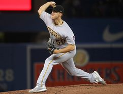 <p>Jameson Taillon (#50) of the Pittsburgh Pirates delivers a pitch in the fourth inning during MLB game action against the Toronto Blue Jays at Rogers Centre on August 11, 2017 in Toronto, Ont. </p><p> Tom Szczerbowski/Getty Images