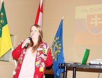Kelsey Alexander shared the story of her experience with Rotary Exchange with the Rotary Club of Melfort on Tuesday, February 13.