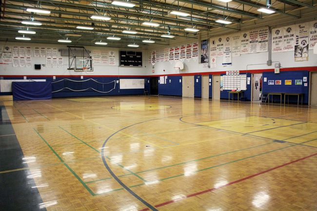 The gym at J.T. Foster High School needs several improvements, says principal Jason Porteous. Stephen Tipper Nanton News