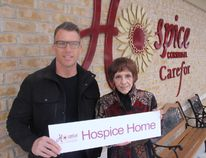 <p>Century 21 Shield Realty Ltd. co-owner Troy Vaillancour and hospice fundraising co-ordinator Sandy Collette launched the real estate company's Hospice Home campaign on Thursday February 15, 2018 in Cornwall, Ont. </p><p> Alan S. Hale/Cornwall Standard-Freeholder/Postmedia Network