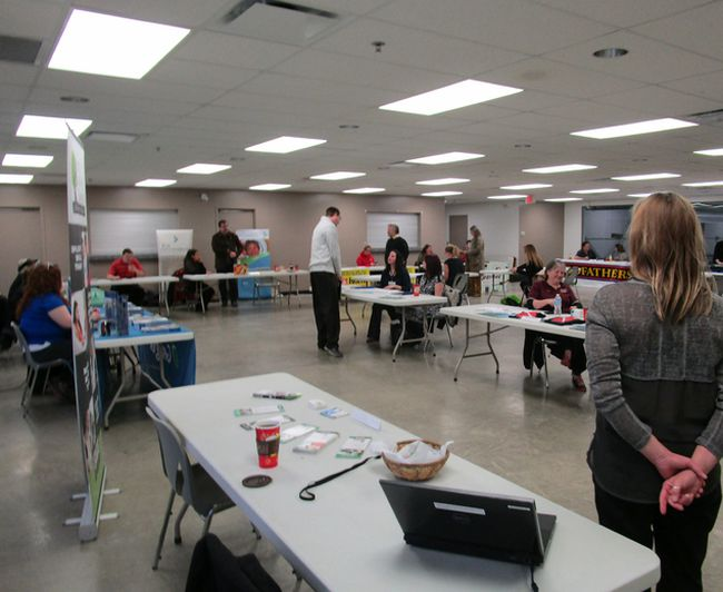 The 2017 Wiarton and District Chamber of Commerce Job Fair at the Wiarton Community Centre and Arena, March 8. Submitted photo