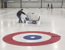 Ian MacAlpine/Whig-Standard file photo Icemaker Rod Leeder prepares the ice at the then new Royal Kingston Curling Club on Days Road in October 2006.