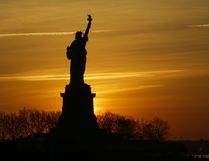 The Statue of Liberty is pictured from Liberty State Park in Jersey City, New Jersey. (Eduardo Munoz Alvarez/Getty Images)