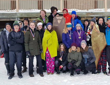 The Owen Sound District Wolves domintated the 2018 CWOSSA Nordic Ski Championships in Mono. The senior boys and girls finished in first place while the junior girls also finished in the top spot. Multiple Wolves skiers finished on the podium and will now travel to OFSAA in Sudbury. Photo submitted.
