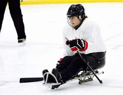 Mallorytown's Rebecca Sharp will be part of a sledge hockey game being played Monday on the Old Memorial ice pad that is part of the Brockville Winter Classic Weekend. Sharp was also named an alternate to the Canadian women's sledge hockey team back in August. (Contributed photo)