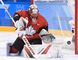 Canada goaltender Genevieve Lacasse makes a save against the United States during second period preliminary round women's hockey action at the 2018 Olympic Winter Games in Pyeongchang, South Korea, on Thursday. (THE CANADIAN PRESS/Nathan Denette)