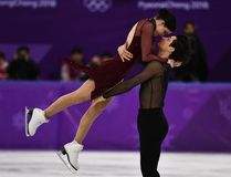 Canada's Tessa Virtue and Canada's Scott Moir compete in the ice dance free dance of the figure skating event during the Pyeongchang 2018 Winter Olympic Games at the Gangneung Ice Arena in Gangneung on February 20, 2018. (AFP PHOTO / ARIS MESSINIS)
