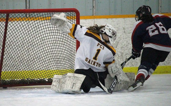 The Saints are down 1-0 in their best-of-three quarterfinal series with the first place St. Mary's Flames. (file photo)