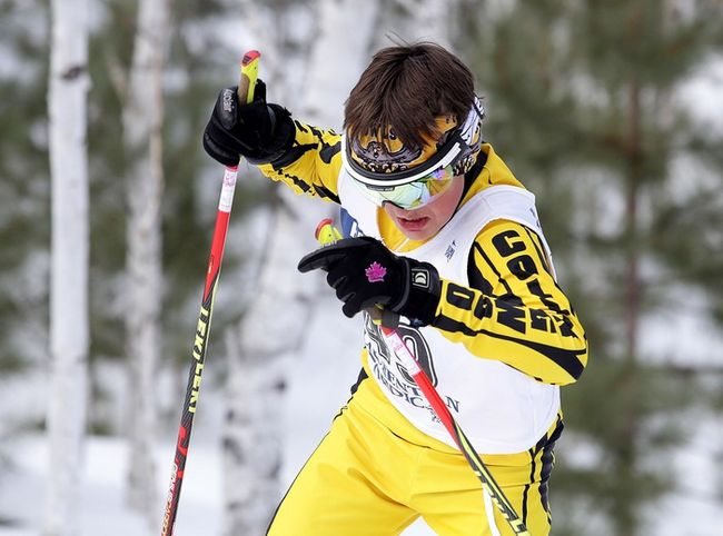 Competitors take part in the  high school OFSAA ski championships  at the Laurentian Ski Trails in Sudbury, Ont. on Thursday February 22, 2018. Gino Donato/Sudbury Star/Postmedia Network