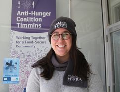 Jen Vachon, executive director of the Anti-Hunger Coalition, is encouraged by the community support for a first-time fundraising event being held in Timmins — Coldest Night of the Year. It is a fundraising walk taking place early Saturday evening.