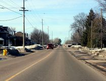 Sean Chase/Daily Observer Boundary Road crosses two jurisdictions as sections fall in the City of Pembroke and Laurentian Valley. Here at Trafalgar Road, motorists drive from the township into the city.
