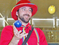 Chad Bogle frequently performed in and around Stratford as Bogle the Magic Clown.