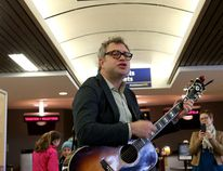 "Ian MacAlpine/The Whig-Standard Steven Page, the former frontman of the Barenaked Ladies, performs an impromptu acoustic show at the Kingston Via train station in 2016. The second Human Rights Festival takes place Monday evening with ""A Singer Must Die,"" a musical tribute to the late Leonard Cohen. The evening features arrangements of Cohen'songs by the Art of Time Ensemble and featuring the voices of Page, Sarah Slean, Tom Wilson (Blackie and the Rodeo Kings), and Gregory Hoskins."