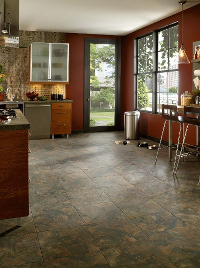 Luxury vinyl tile is very durable and more importantly, it looks good.