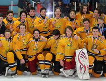The Char-Lan Crusaders, after winning the SD&G boys  hockey championship, beating North Dundas 8-4 in the final. Kevin Gould/Cornwall Standard-Freeholder