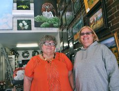Chris Ford and Sue Rumball are shown inside their new art gallery, the Art and Heirloom Shoppe, in downtown Chatham on Feb. 26. Tom Morrison/Chatham This Week