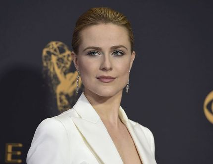 Evan Rachel Wood arrives at the 69th Primetime Emmy Awards on Sunday, Sept. 17, 2017, at the Microsoft Theater in Los Angeles.
