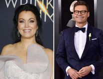 Bellamy Young and Ryan Seacrest. (WENN.COM and AP file photo)