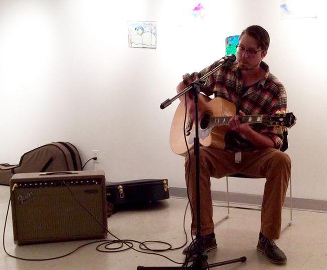"Caleb Hull, of Georgian Bluffs, performed ""When I'm Gone"" at the 4th annual Wilfred Campbell Poetry and Arts Festival at the Tom Thomson art gallery in Owen Sound, June 25. Submitted photo"