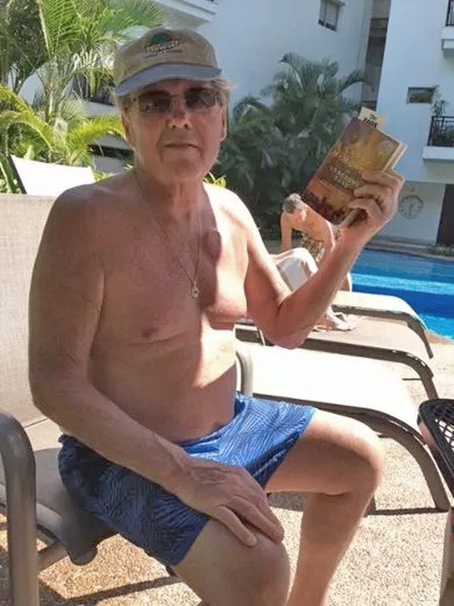 71-year-old Stuart Cline in Mexico before he collapsed last week. (Submitted photo)