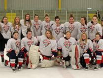 The St. Joseph's Panthers are SD&G girls high school hockey champions, after beating North Dundas 5-1 in Wednesday's final. Kevin Gould/Cornwall Standard-Freeholder