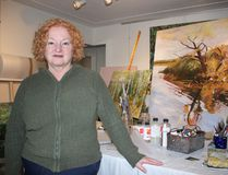 Woodstock's Cathy Groulx has been a professional painter for over 30 years. (Chris Funston/Woodstock Sentinel-Review)