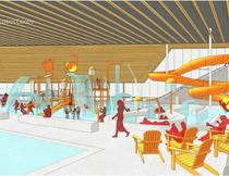 Architectural concept drawing for Timmins aquatic centre (Perkins + Will)