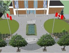 <p>Handout/Cornwall Standard-Freeholder/Postmedia Network</p><p> Artist's depictions of the new layout the council has chosen for the promenade in front of the Justice Building on Pitt Street in Cornwall.