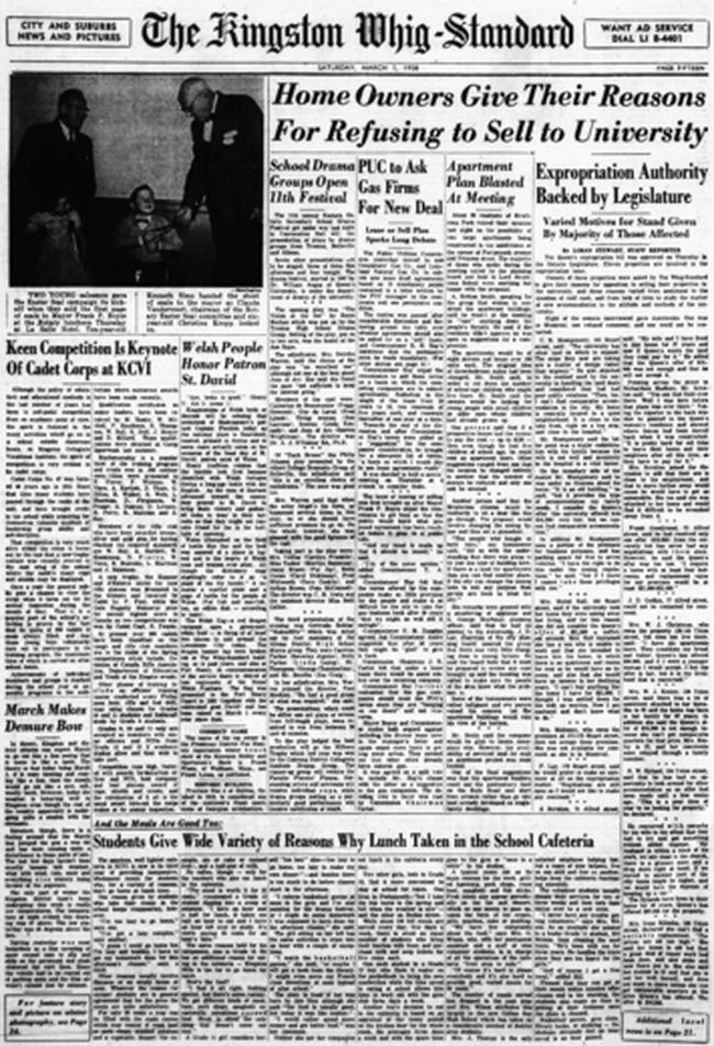 """To download a readable copy of Page 15 from the March 1, 1958, edition of The Kingston Whig-Standard, <a href=""""https://drive.google.com/file/d/1GABfoER6DZnr_jSzHjQd0OuVV4XH56rs/view?usp=sharing"""" target=""""new window"""">click here.</a>"""
