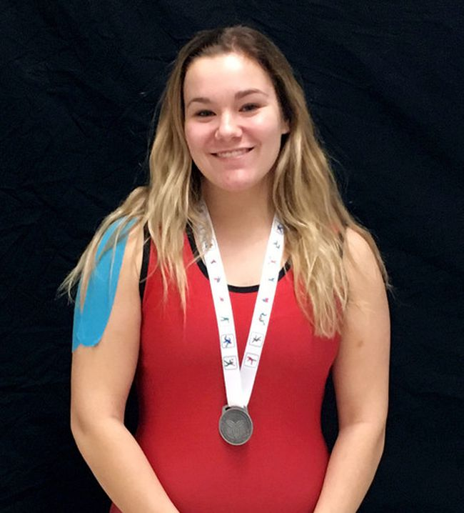 Maddison Segeren of Chatham, Ont., won a silver medal in wrestling at the 2018 Ontario Winter Games. (Contributed Photo)
