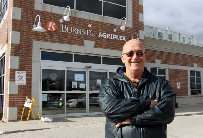 Stratford Lakeside Active Adults Association president Steve Kropf stands in front of the Burnside Agriplex on Monday, March 5, 2018 in Stratford, Ont. Terry Bridge/Stratford Beacon Herald/Postmedia Network