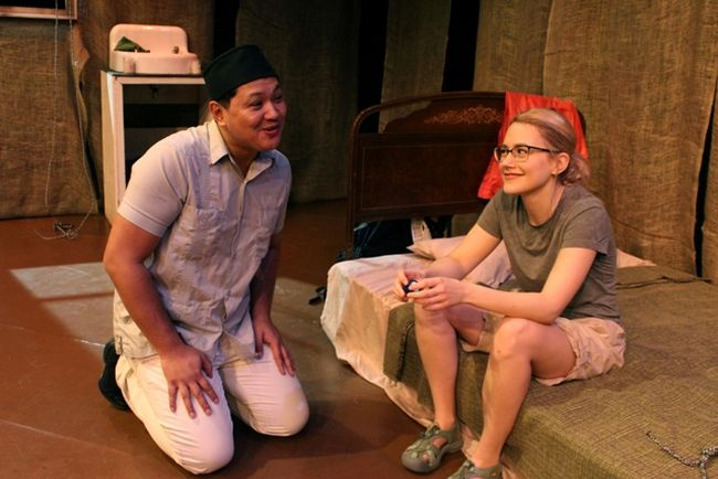 Earl Pereira and Anna Mazurik star in Naked Tourist, Sacred Mountain, a story about faith, climbing, and reconciliation, which plays at the CJVR Theatre, Kerry Vickar Centre, Sunday, March 11 at 2:00 p.m.