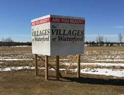 Norfolk council approved modifications to the Villages of Waterford subdivision last week. About 135 homes will be built on the 30-acre property, down from 218 proposed in 2008. In-ground servicing of the farmland in the north end of town is expected to begin this summer. KIM NOVAK / SIMCOE REFORMER