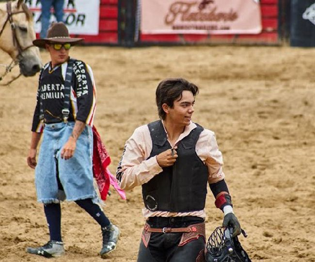 Simcoe's Ben Peever, 17, recently graduated from steer riding to the bull riding ranks. The Simcoe Composite School student will compete at a number of rodeos this season, including the National High School Finals Rodeo July 15-21 in Rock Springs, Wyoming. Contributed Photo