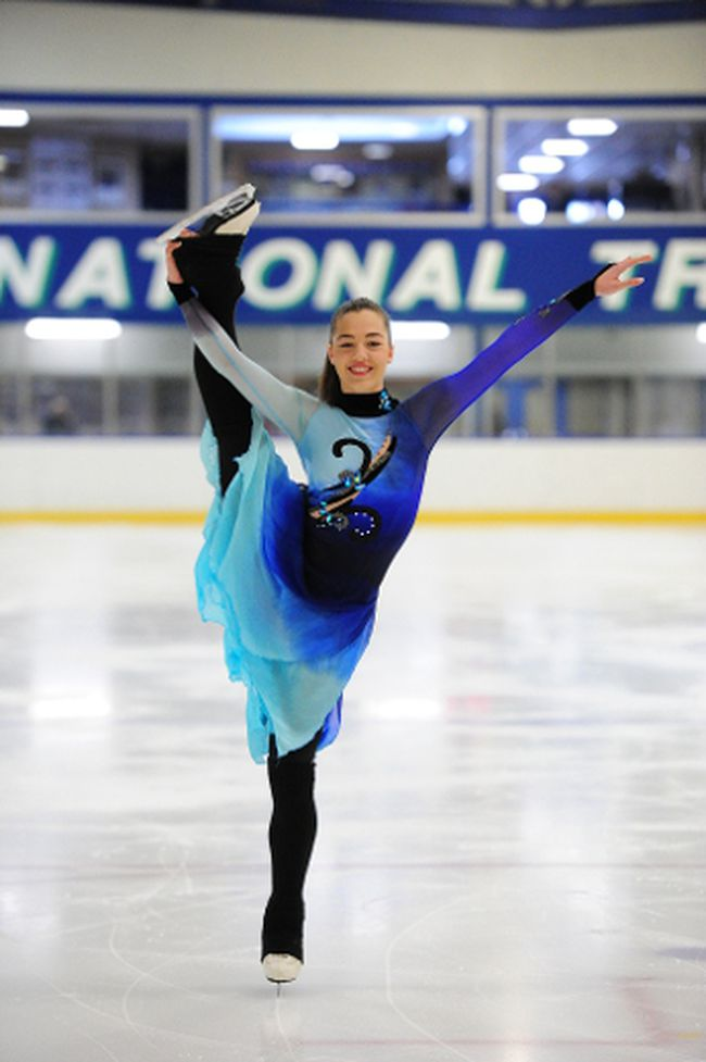 Julia Polowy, of the Timmins Porcupine Figure Skating Club, was a silver medalist at the National Synchronized Skating Championships held recently in Oshawa.
