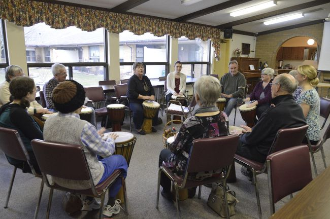 The Memory Cafe in Strathroy draws a handful of couples each week. It's one of three in the London region, including one on the east end of London and one in rural Newbury, Ont. (Louis Pin / Strathroy Age Dispatch)