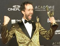 Steven McCarthy celebrates his win at Canadian Screen Awards. (Supplied Photo)