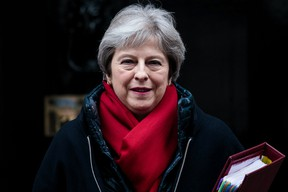 British Prime Minister Theresa May leaves 10 Downing Street for Prime Minister's Questions on February 21, 2018 in London, England. More than 60 pro-Brexit MPs have written to Mrs May with a list of suggestions for making a clean break from Europe as Brexit negotiations continue. (Photo by Jack Taylor/Getty Images)